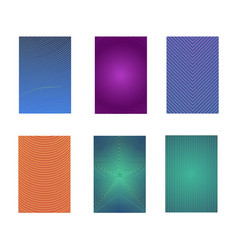 set of colorful minimal design brochure vector image