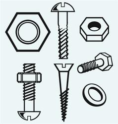 Set of screws vector