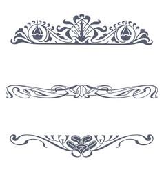 Set victorian ornaments vector
