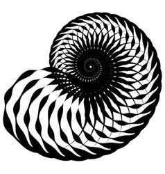 Snail helix made of inward rotating circles vector