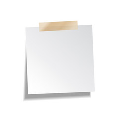 sticky paper note with tape and shadow isolated on vector image