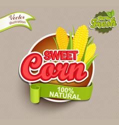 Sweet corn logo vector