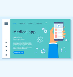 template medical website talk to doctor from vector image