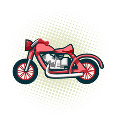 the classic retro motorcycle this is great vector image