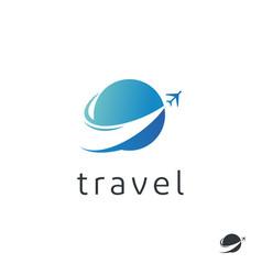 Travel agency logo trip logo design vector