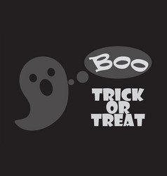 Trick or treat poster happy halloween scary ghost vector
