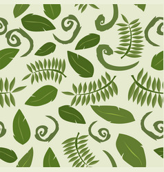 tropical background with leaves seamless floral vector image