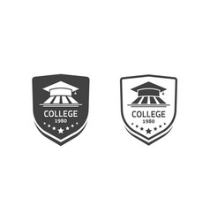 University crests and college school emblems set vector