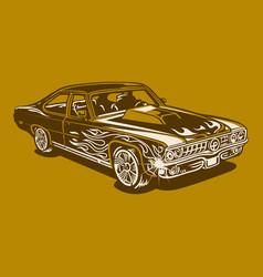 vintage car 35 vector image
