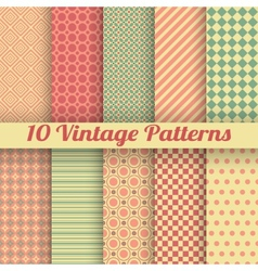 Vintage different seamless patterns tiling vector image vector image