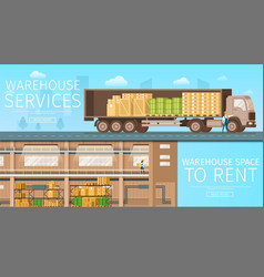 warehouse delivery service store space to rent vector image