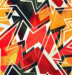 warm color geometric seamless pattern vector image
