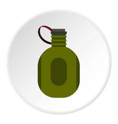 Water canteen icon circle vector