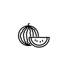 web line icon watermelon black on white vector image