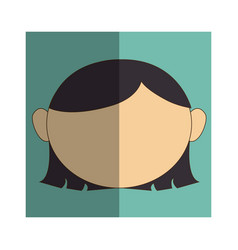 woman asian face icon vector image