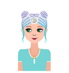Zodiac young beautiful girl in doodle vector