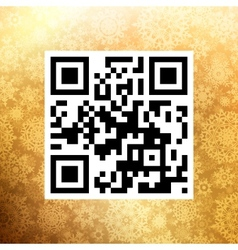 Big Sale in qr code on christmas EPS 10 vector image
