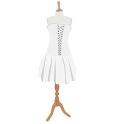 Gothic dress vector image