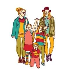 Homosexual gay lesbian woman lgbt family couple vector image