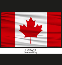 National flag of canada vector