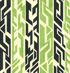 vintage ancient seamless pattern with grunge vector image