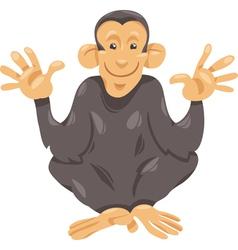 chimpanzee ape cartoon vector image