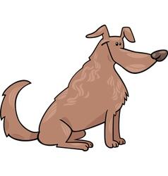 cute sitting dog cartoon vector image vector image