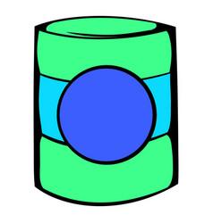 Green plastic jar icon icon cartoon vector
