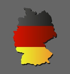 Map of germany with flag vector