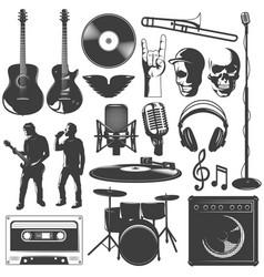 music icon set vector image