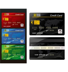 Set of credit card vector