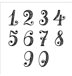 Set of Numbers vector image