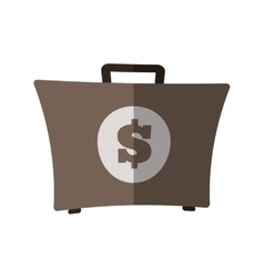 Suitcase money dollar business flat icon vector