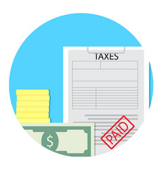 Tax paid icon vector