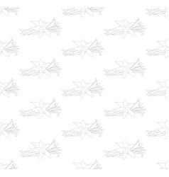 vanilla planifolia flower seamless on white vector image