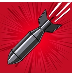 Comic style cartoon bomb with explosion Design vector image