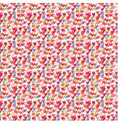 cute hearts seamless pattern fashion vector image