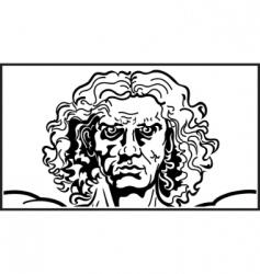 head of the vitruvian man vector image