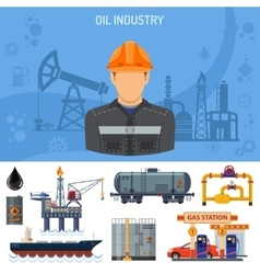 Oil industry Concept vector image vector image