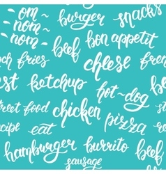Seamless pattern with hand lettering set of words vector image vector image