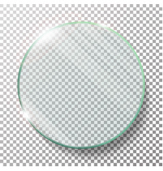 transparent round circle realistic vector image