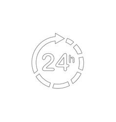 24 hours around clock flat icon vector image