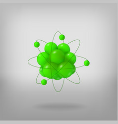 3d abstract atom structure vector image