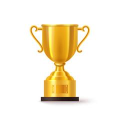 3d or realistic golden trophy or cup bowl goblet vector