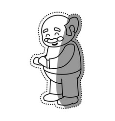 adult male avatar elder vector image vector image