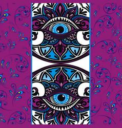 all seeing eye design vector image