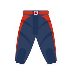 American football shorts icon flat style vector