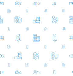 Apartment icons pattern seamless white background vector
