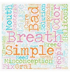 Bad breath cure is as simple as cause text vector