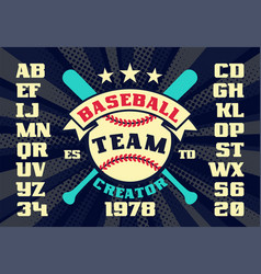 Baseball vintage team creator vector